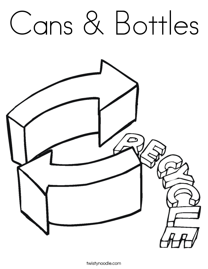 Cans & Bottles Coloring Page