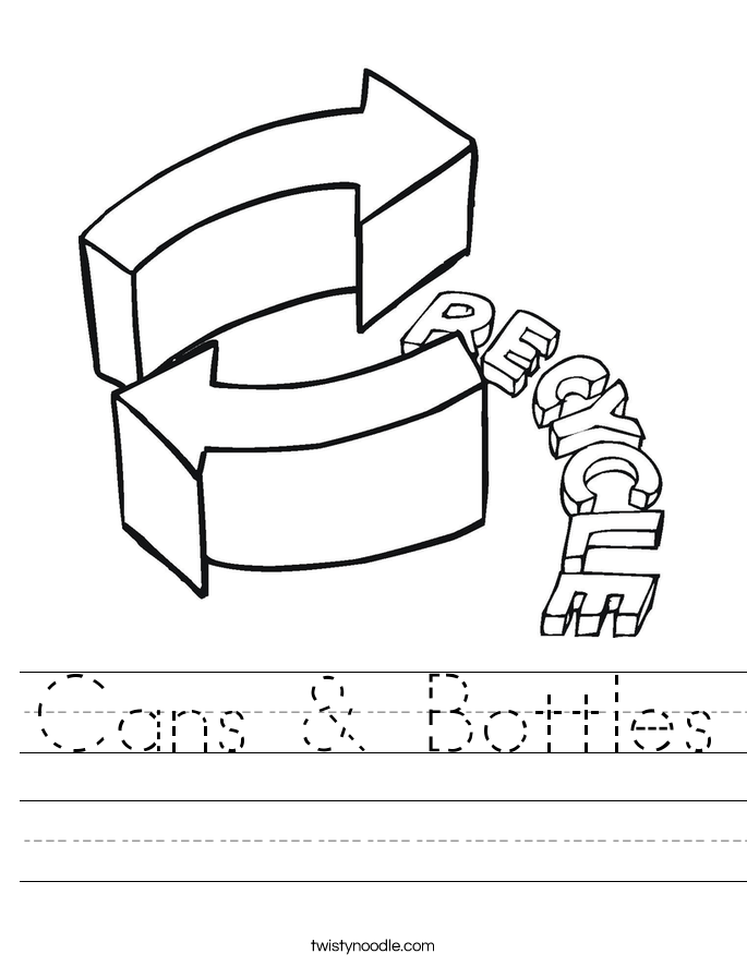 Cans & Bottles Worksheet