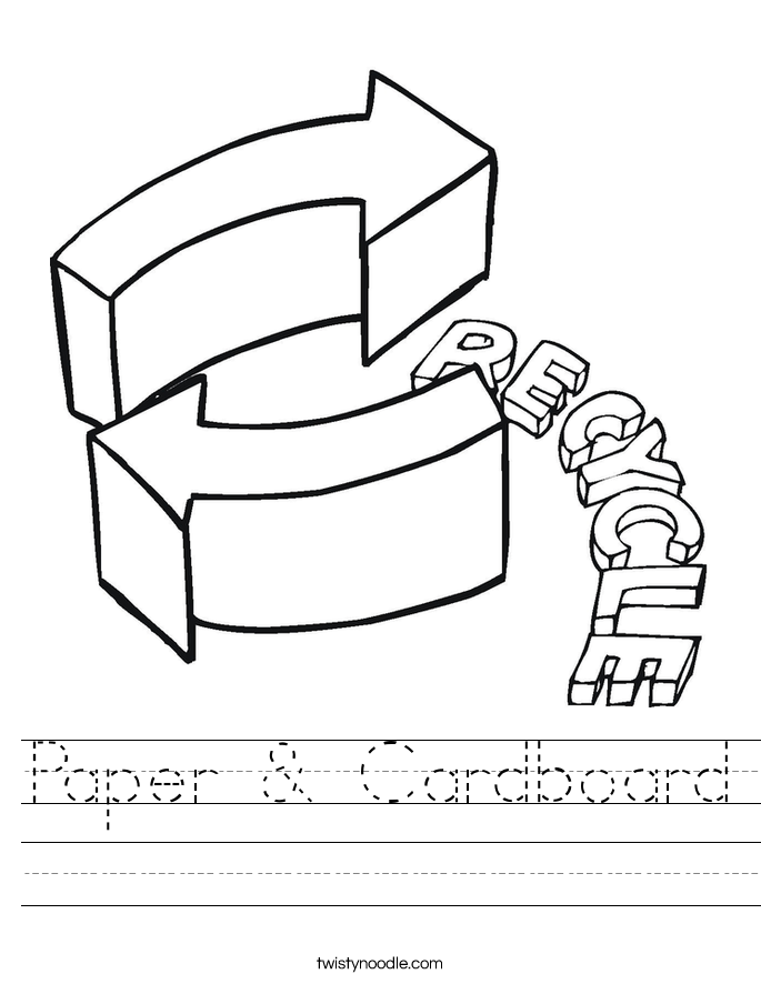 Paper & Cardboard Worksheet
