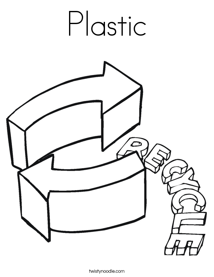 Plastic Coloring Page