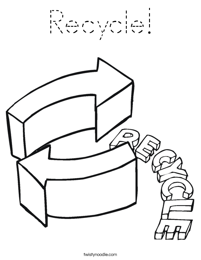 Recycle! Coloring Page
