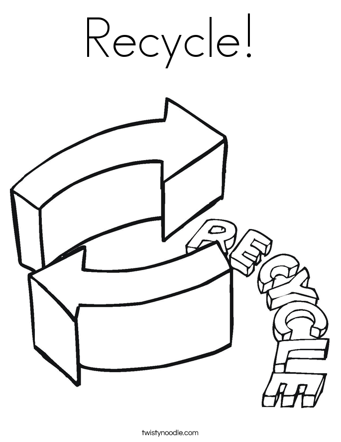 Recycling Coloring Pages Coloring Pages Recycle Coloring Pages