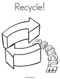 Recycle!Coloring Page
