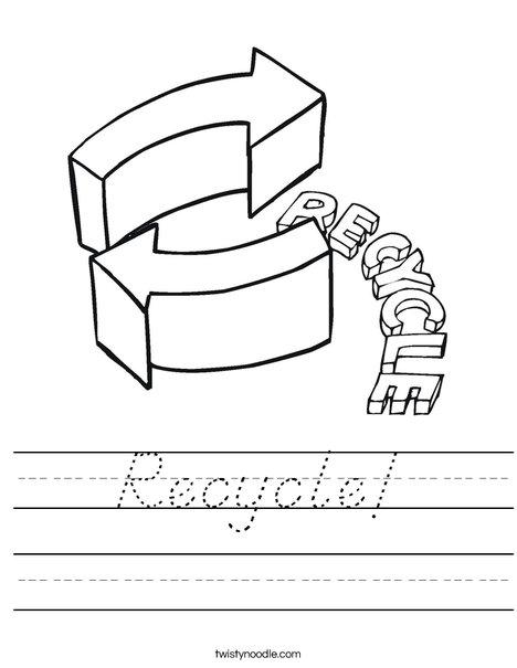 Recycle Worksheet