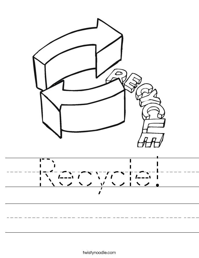 Recycle! Worksheet