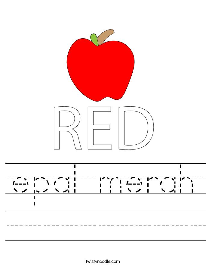 epal merah Worksheet