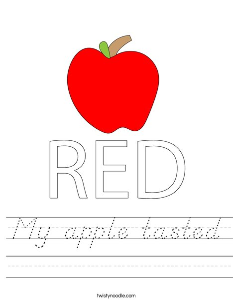 Red Apple Worksheet