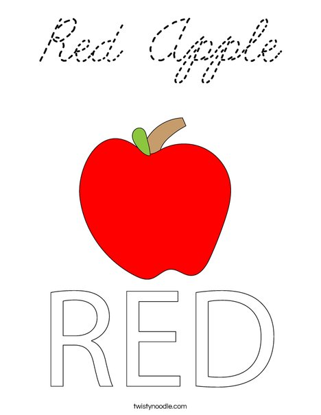 Red Apple Coloring Page