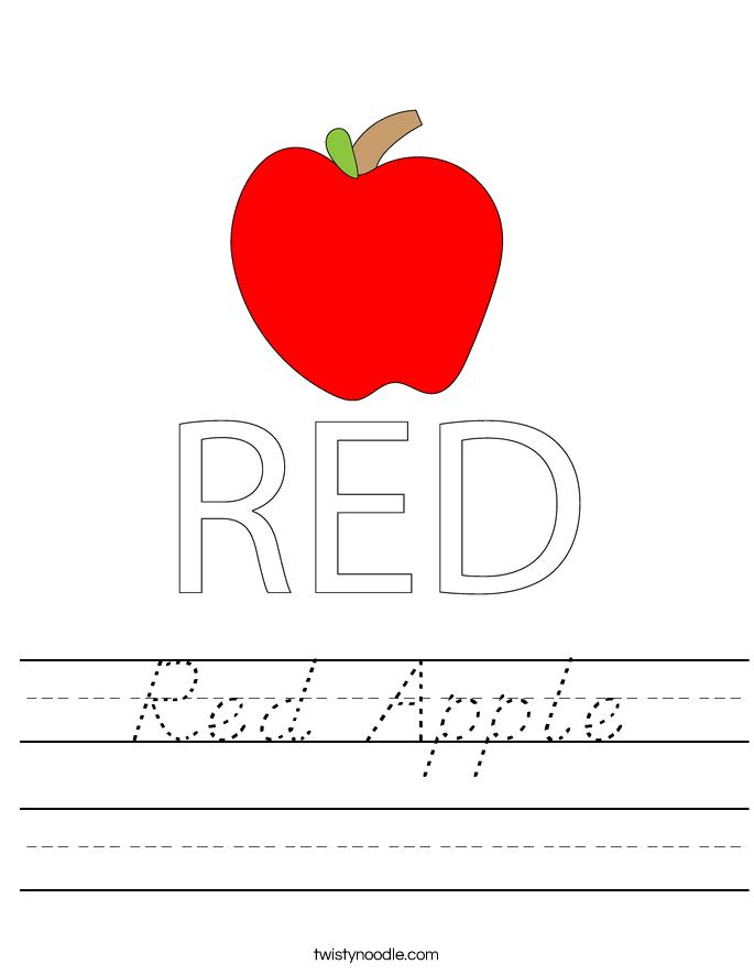 Red Apple Worksheet