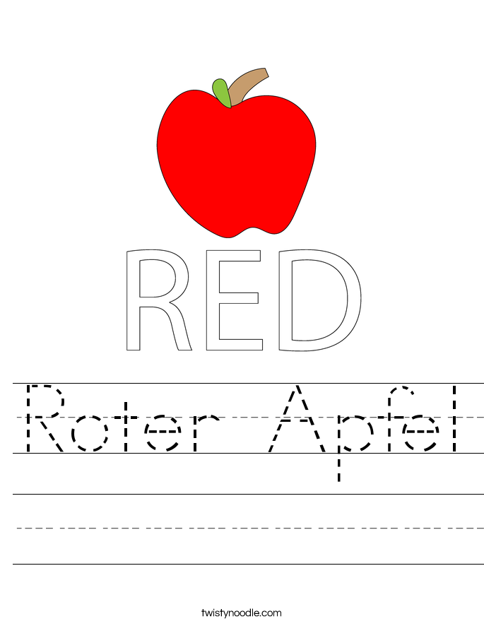 Roter Apfel Worksheet