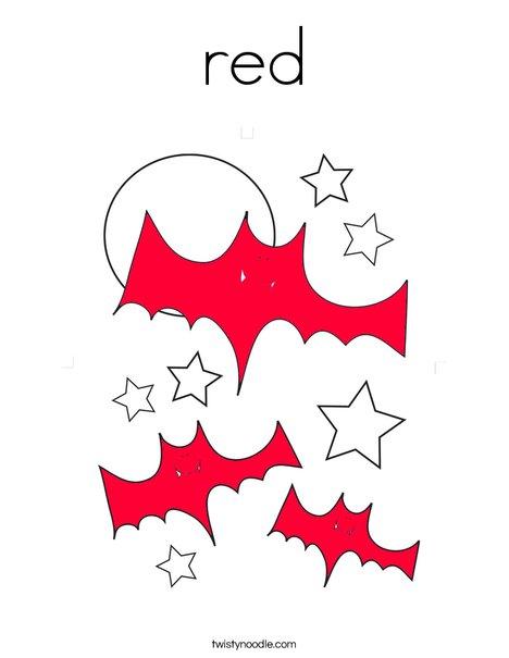 Red Bats Coloring Page