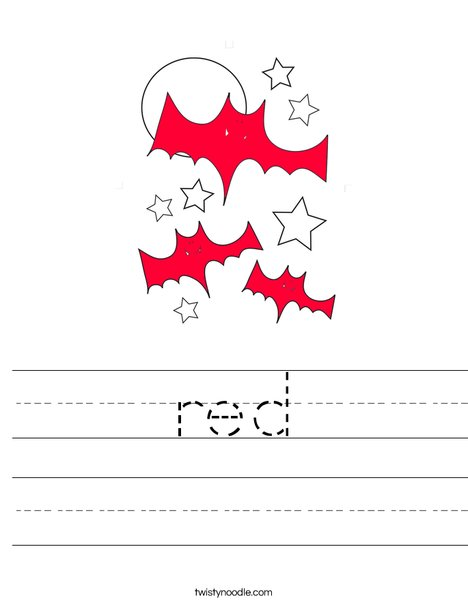 Red Bats Worksheet