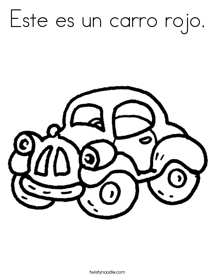 Este es un carro rojo. Coloring Page