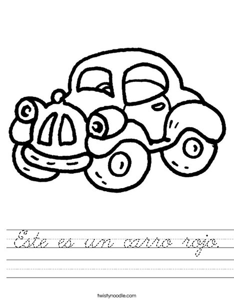 Red Car Worksheet