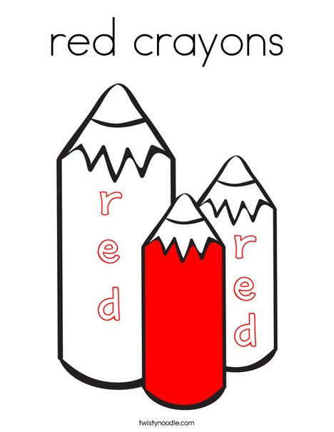 Red Crayons Coloring Page