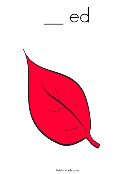 Red Fall Leaf Coloring Page