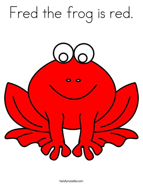 Red frog Coloring Page