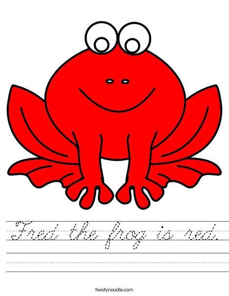 Red frog Worksheet