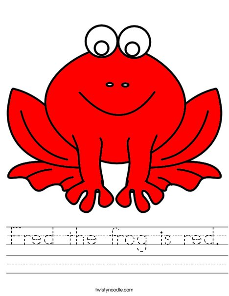 Red frog Worksheet