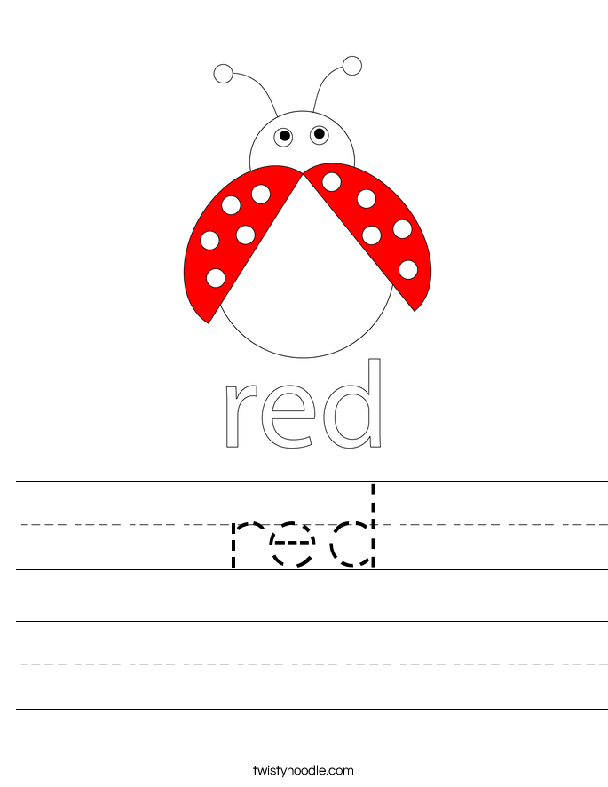 red Worksheet Twisty Noodle