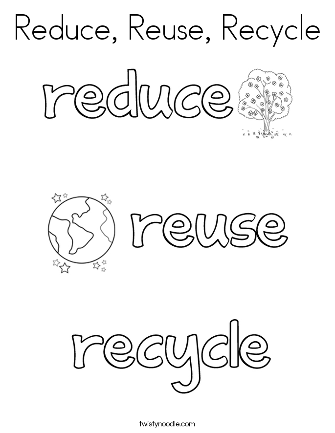 Reduce Reuse Recycle Coloring Book