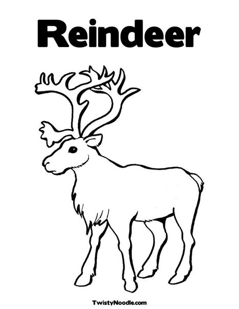 coloring pages reindeer mini - photo#28