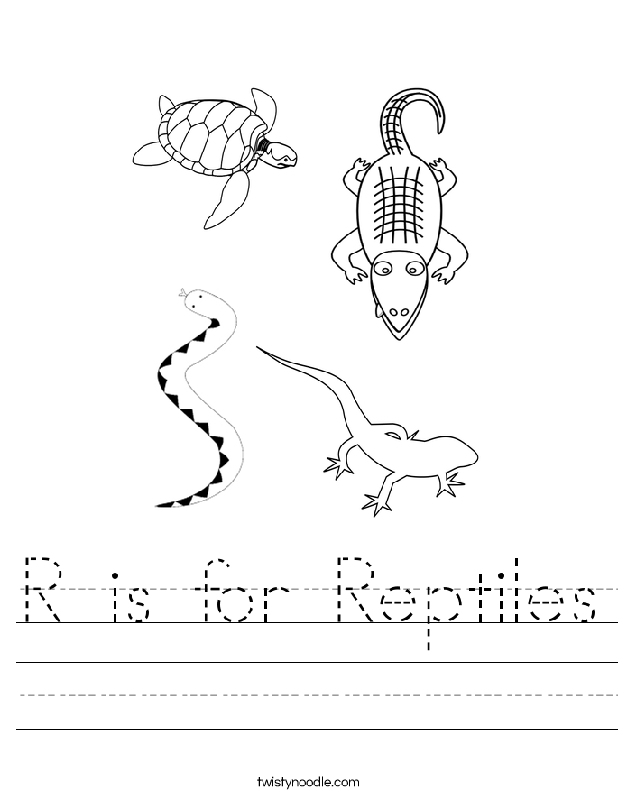 R is for Reptiles Worksheet