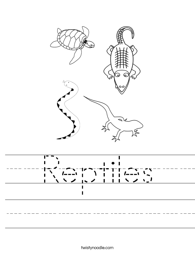 Reptiles Worksheet - Twisty Noodle