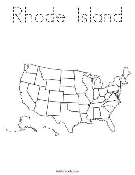 Rhode Island Coloring Page