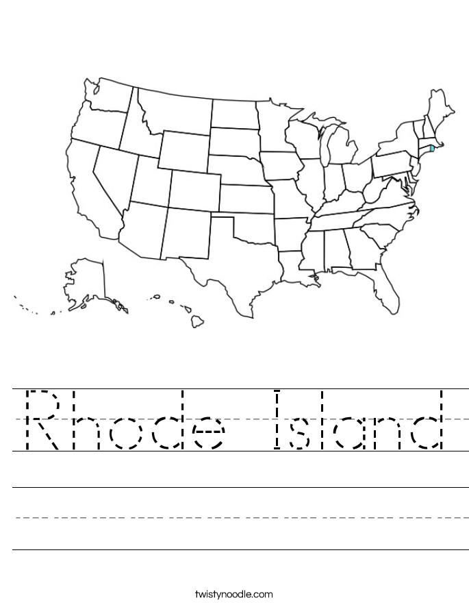 Rhode Island Worksheet