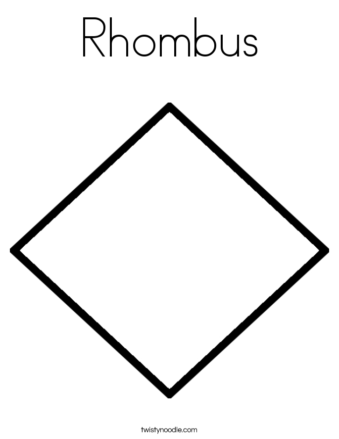 Rhombus 20 Coloring Page on Food To Contact