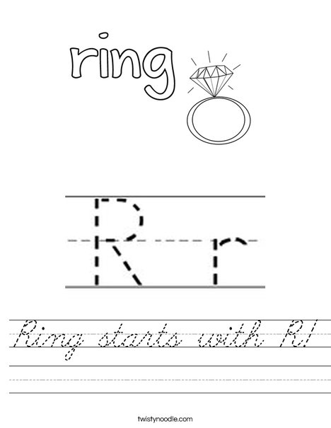 Ring starts with R! Worksheet