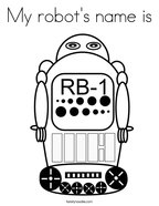 My robot's name is Coloring Page