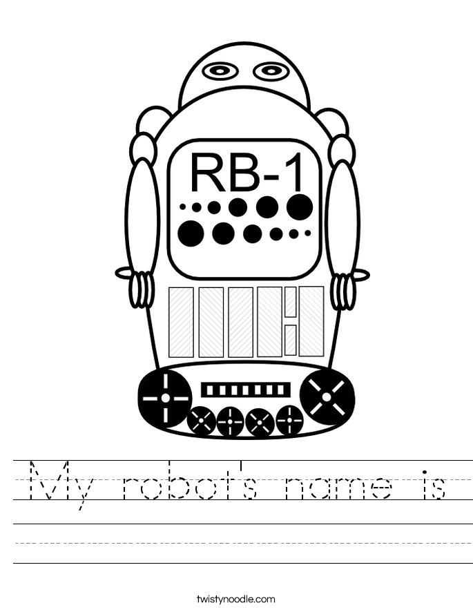 My robot's name is Worksheet