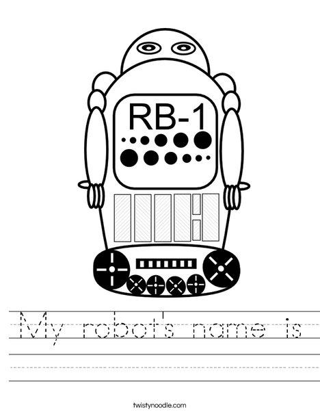 robot 1 Worksheet