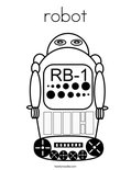 robotColoring Page