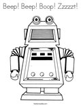 Beep! Beep! Boop! Zzzzzt!Coloring Page