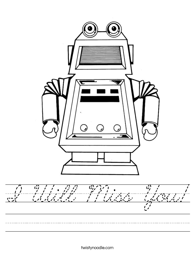 I Will Miss You! Worksheet