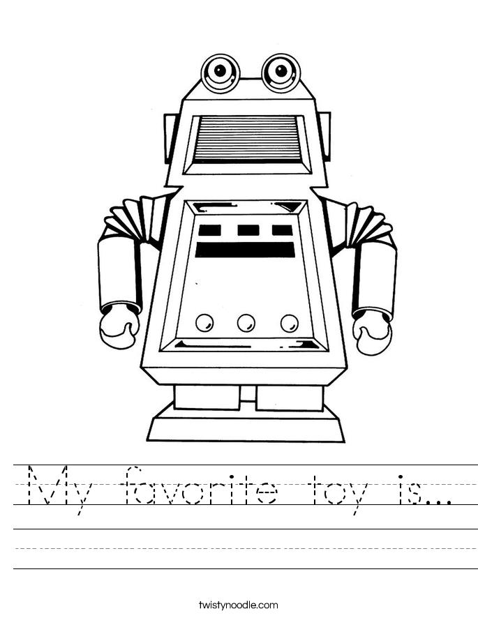 My favorite toy is... Worksheet