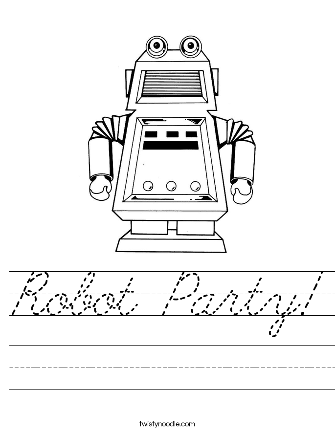 Robot Party! Worksheet