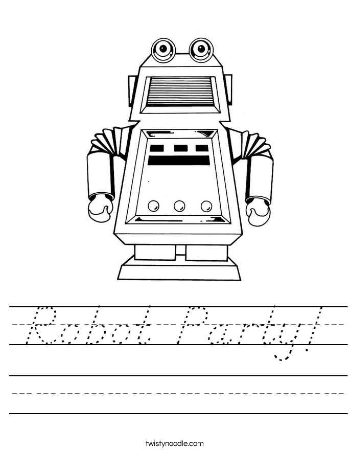 Robot Party! Worksheet
