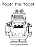 Roger the Robot Coloring Page