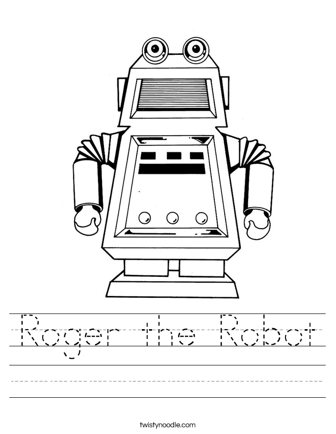 Roger the Robot Worksheet