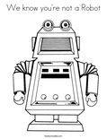 We know you're not a RobotColoring Page