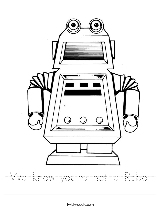 We know you're not a Robot Worksheet