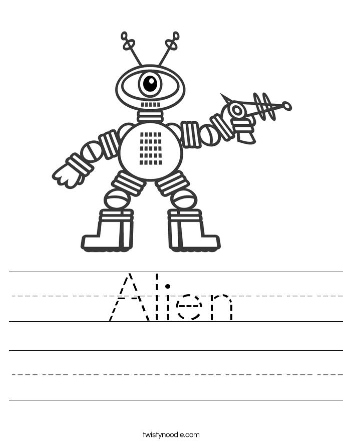 Alien Worksheet