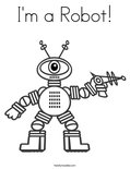 I'm a Robot! Coloring Page