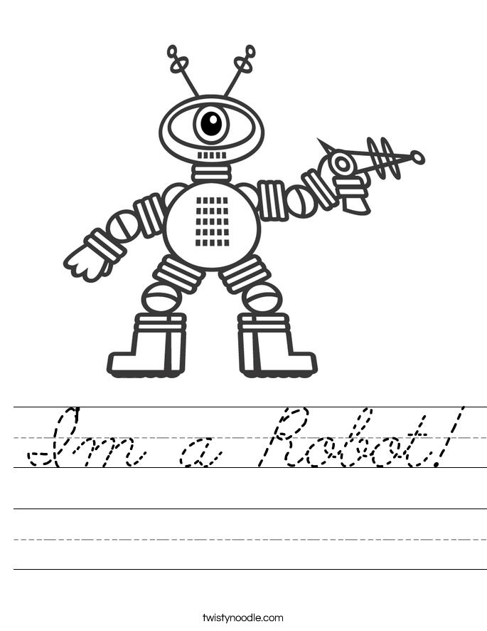 I'm a Robot! Worksheet
