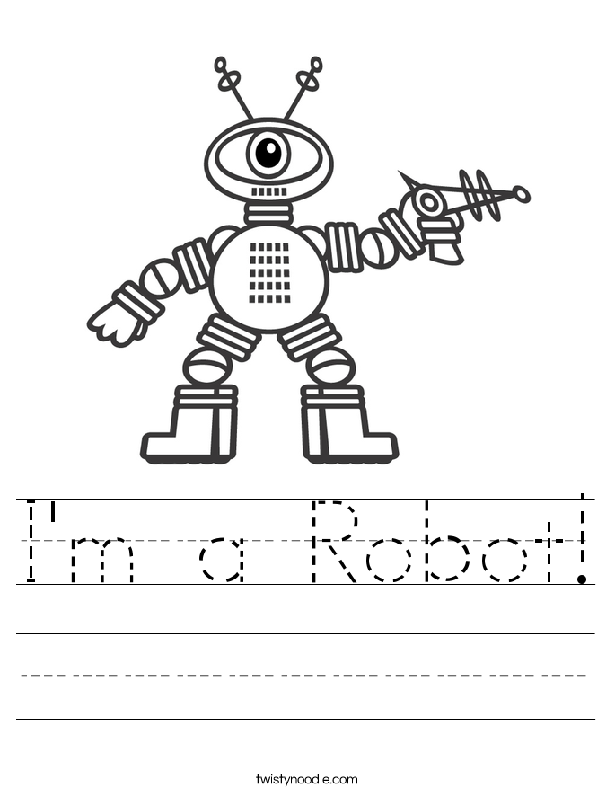 I'm a Robot! Worksheet