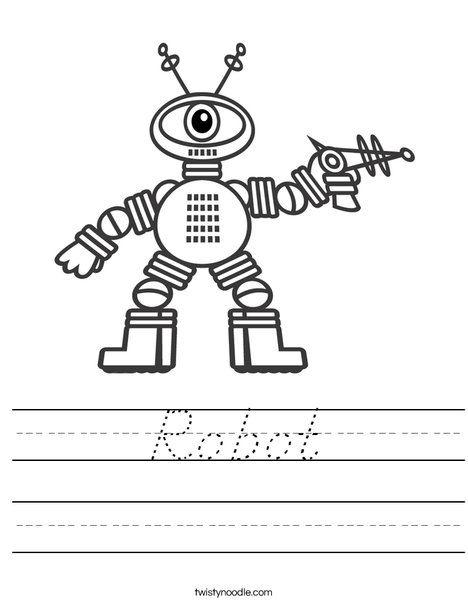 Robot with One Eye Worksheet